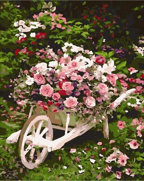 Раскраски для взрослых 40×50 см. Розовый куст