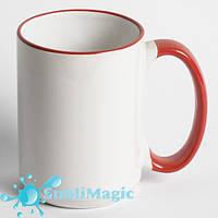 Чашка сублимационная с ободком 425 мл Красная