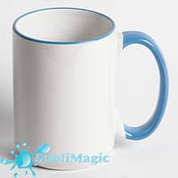 Чашка сублимационная с ободком 425 мл Голубая