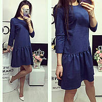 Платье трикотажное , модель 778, синее, фото 1