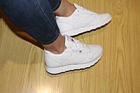 Женские кроссовки REEBOK, пресс кожа, белые / кроссовки женские РИБОК, стильные