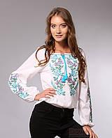 Вышиванка для женщин, цветочный узор, длинный рукав