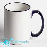 Чашка сублимационная с ободком 425 мл Кобальт