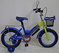 Детский велосипед Rueda GALLOP - 16 дюймов. (12,18д.) синий