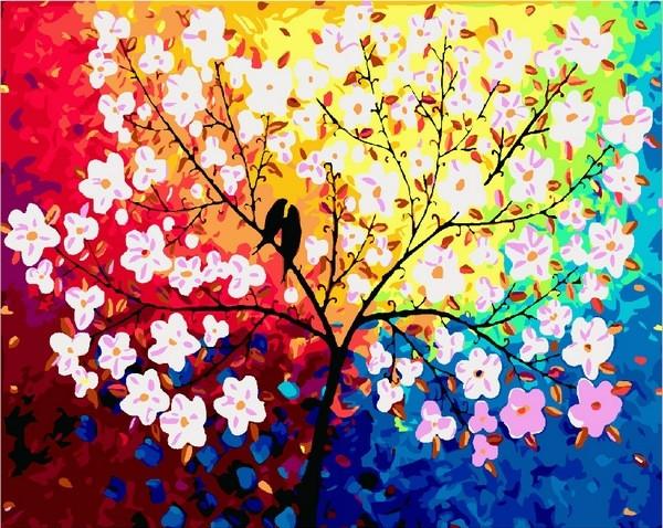 Раскраски для взрослых 40×50 см. Дерево любви купить в ...