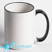 Чашка сублимационная с ободком 425 мл Черная