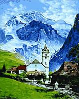 Картины раскраски по номерам 40×50 см. Гриндельвальд, Швейцария, фото 1