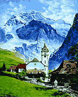Картины раскраски по номерам 40×50 см. Гриндельвальд, Швейцария