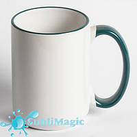 Чашка сублимационная с ободком 425 мл Зеленая