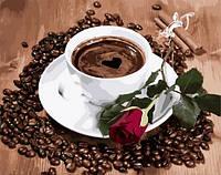 Картина по номерам 40×50 см. Приглашение на кофе
