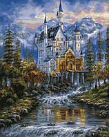 Картины раскраски по номерам 40×50 см. Замок Нойшванштайн Художник Роберт Файнэл