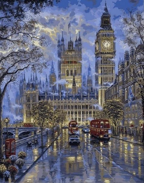 Картины по номерам 40×50 см. Вестминстер, Лондон Художник Роберт Файнэл