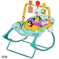 Укачивающий центр колыбель для новорожденных 3238 с вибро режимом Bambi стульчик