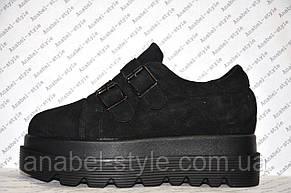 Криперсы стильные женские черного цвета , фото 2