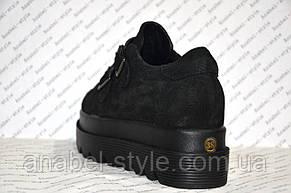Криперсы стильные женские черного цвета , фото 3