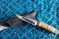 Нож охотничий  ,сталь 440с,рукоять береста
