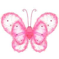 Детский наряд крылья бабочки с декором боа А91184