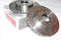 Диск тормозной ВАЗ 2110 передний R13 (Евро)вентилируемый c канавкой и перфор (LADA SPORT)(компл.2шт) (АвтоВАЗ)