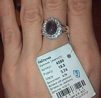 Серебряное кольцо Калинка  925 пробы камень аметист