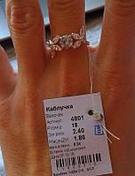 Серебряное кольцо Веночек 925 пробы