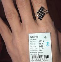 Серебряное кольцо 925 пробы черная шахматка