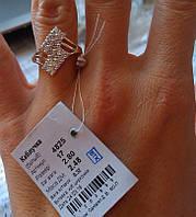 Серебряное кольцо 925 пробы белая шахматка
