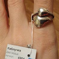 Серебряное кольцо Два Сердца 925 пробы с чернением