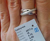Серебряное кольцо Мирра 925 пробы родированное