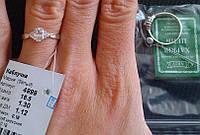 Серебряное кольцо Мария белая 925 пробы