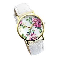 Часы женские наручные Цветы белые арт. 0028