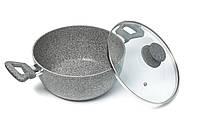Кастрюля с антипригарным покрытием Eco Granite Con Brio CB-2410 24*11см 4л гранитное покрытие стекл крышка