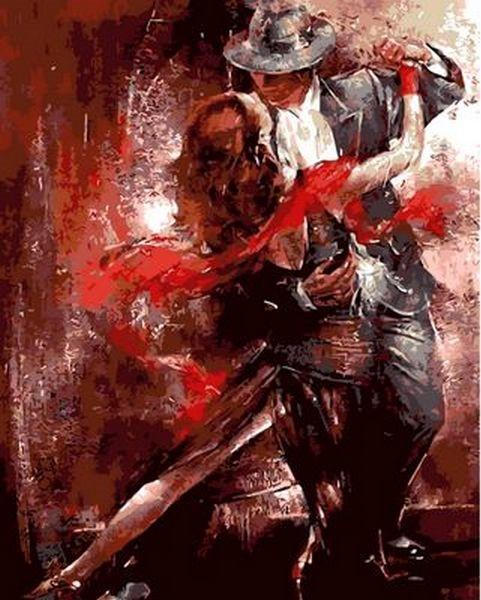 Раскраски по номерам 40×50 см. Огненный танец Художник Авраам Хантер