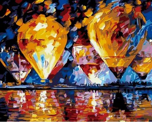 Картины по номерам 40×50 см. Воздушные шары Художник Афремов Леонид