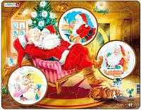 Пазл рамка-вкладыш Lasren - Дед Мороз