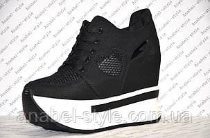 Криперсы летние женские черного цвета на шнурках, фото 2