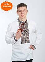 Вышиванка мужская с длинным рукавом, машинная вышивка