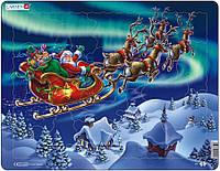 Пазл рамка-вкладыш Lasren - Дед Мороз и северное сияние