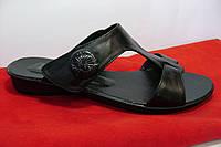 Летние, кожаные шлепки без каблука от производителя, фото 1