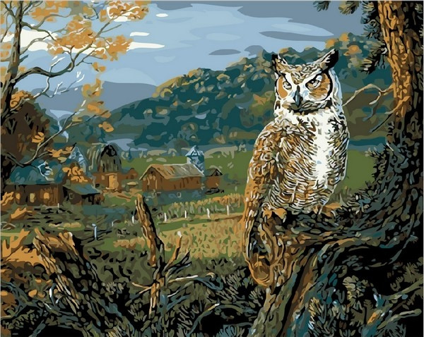 Картины по номерам 40×50 см. Вечерняя охота