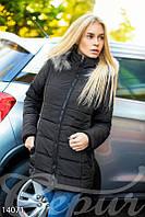 Теплое стеганое пальто (Черный)