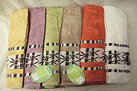 Комплект полотенец сауна Cestepe 100% bamboo БАМБУК махра 6шт 90х150 Турция