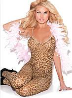 Леопардовый сексуальный боди комбинезон