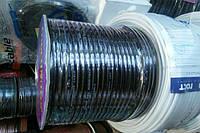 Кабель микрофонный,медный 2жилы, 14х0,14(128/0,1мм)  диаметр 6мм,чёрный