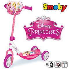 Дитячий самокат триколісний Smoby Принцеса 750142