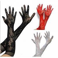 Ажурные перчатки 3 цвета