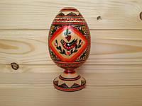 Большая писанка 120х100х70 на подставке, ромбы в украинском стиле