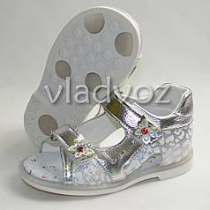 Босоножки сандалии для девочки, девочек серебристые Y. Top 22р.