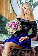 Роскошное бархатное платье с юбкой из тафты (Мультиколор)