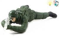 Солдатик   (арт. 960) ползет,батар,свет 29x18.5x7cm