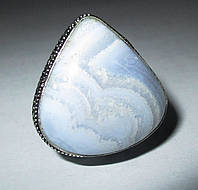 Шикарный перстень с агатом-сапфирином, размер  17,9  от студии LadyStyle.Biz